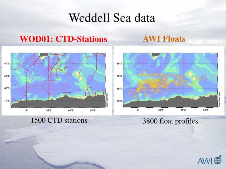 Weddell Sea data