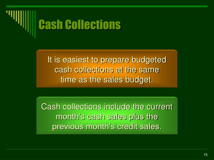 Cash Collections