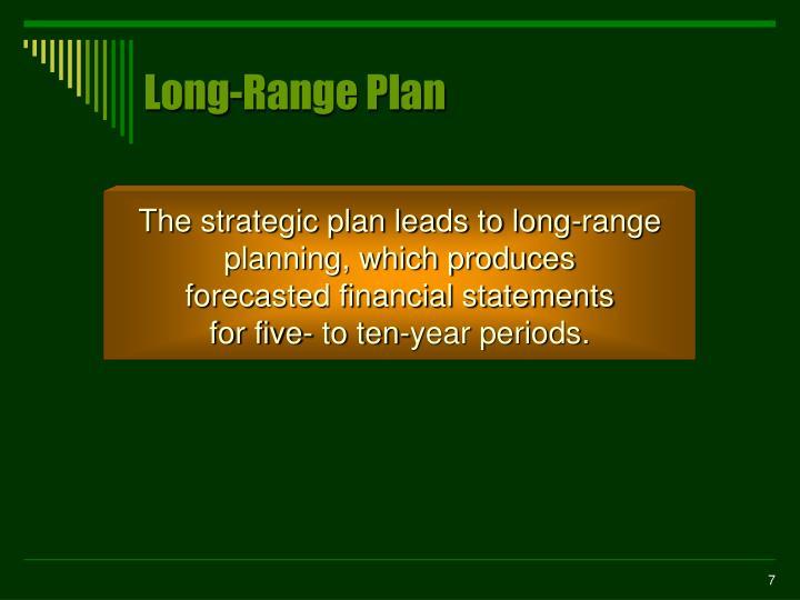 Long-Range Plan