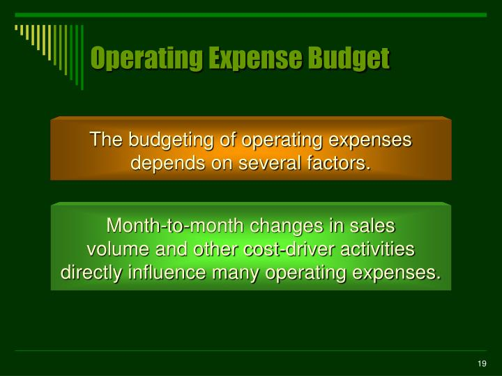 Operating Expense Budget