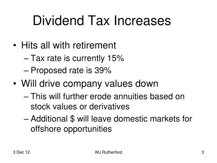 Dividend tax increases