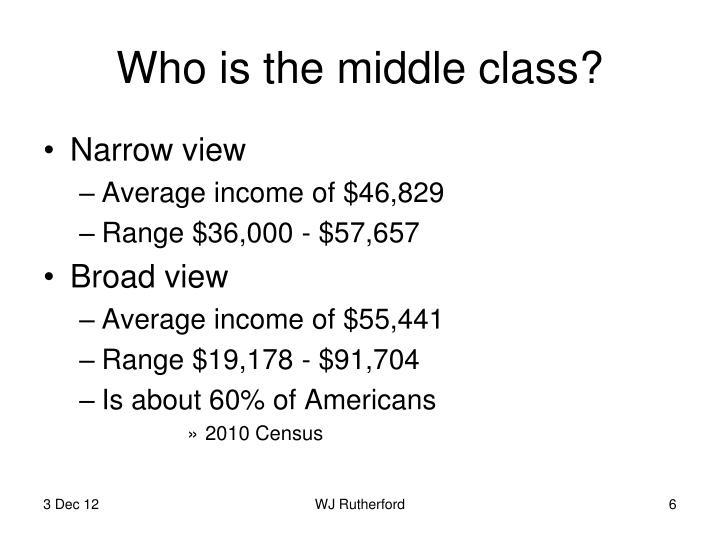 Who is the middle class?