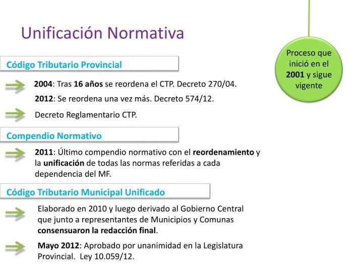 Unificación Normativa