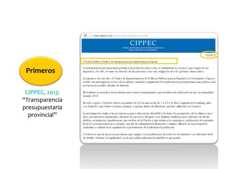 CIPPEC, 2013