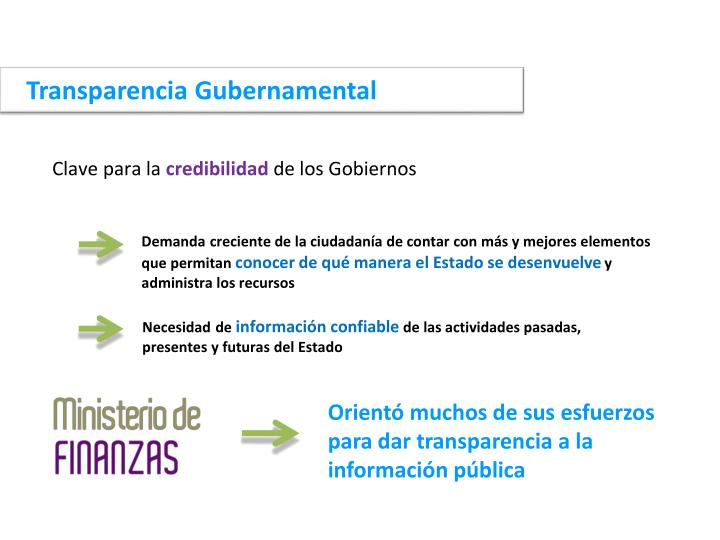 Transparencia Gubernamental