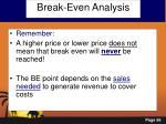 break even analysis2