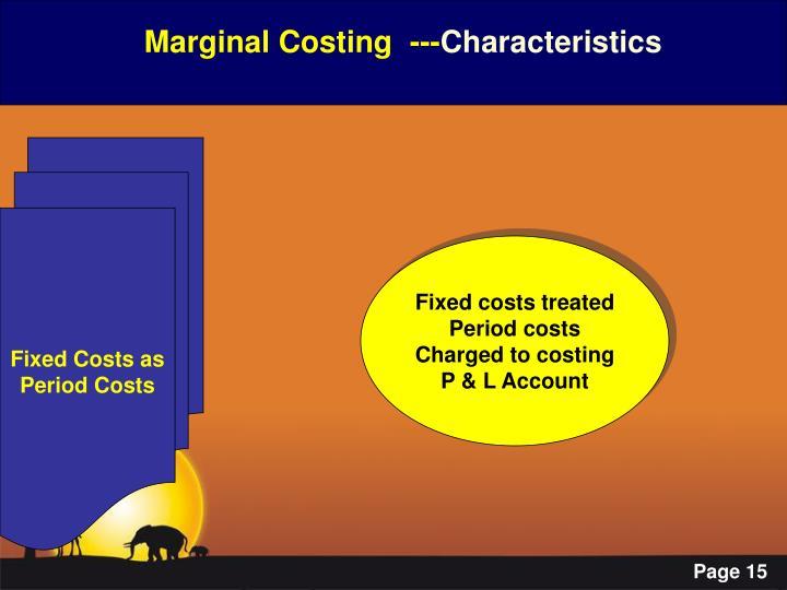 Marginal Costing  ---