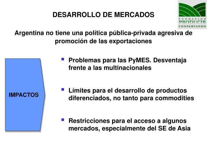DESARROLLO DE MERCADOS