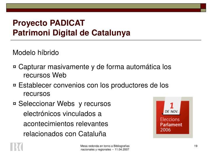 Proyecto PADICAT