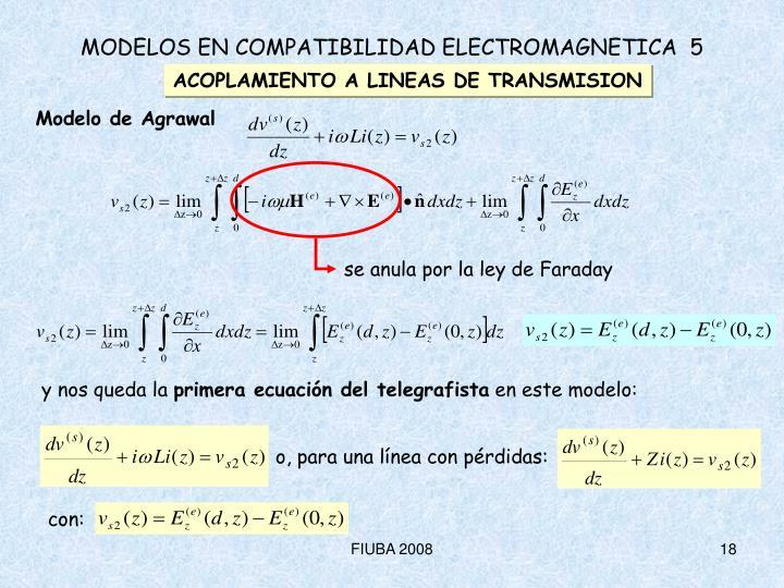 se anula por la ley de Faraday