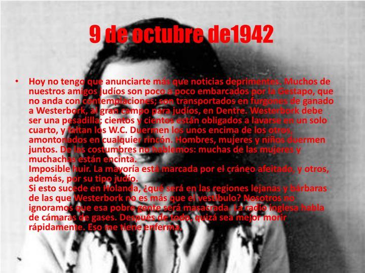 9 de octubre de1942