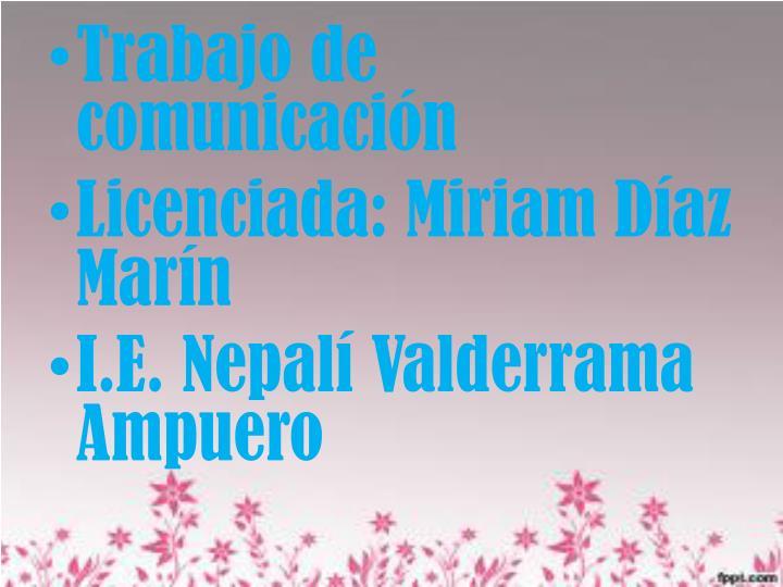 Trabajo de comunicación