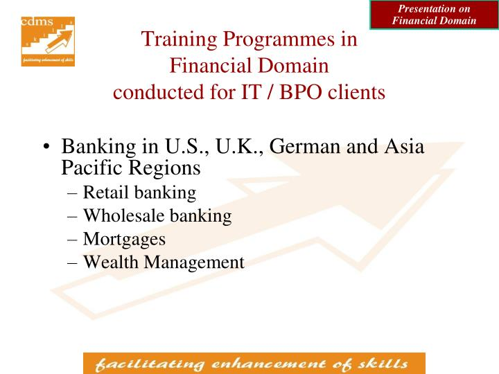 Presentation on Financial Domain