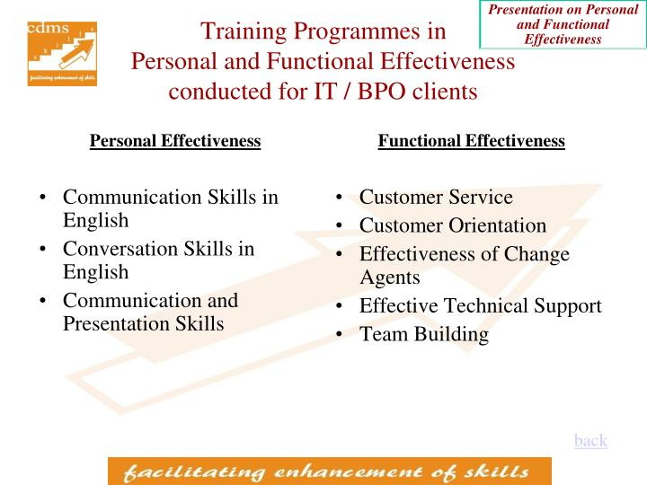 Training Programmes in