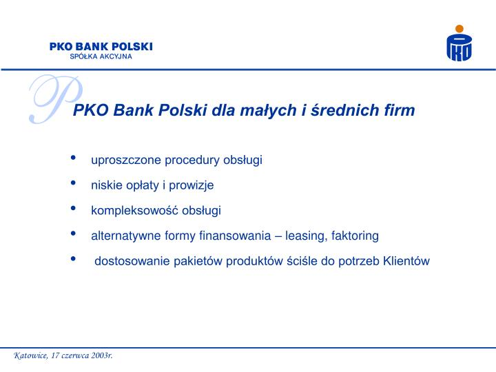 PKO Bank Polski dla małych i średnich firm