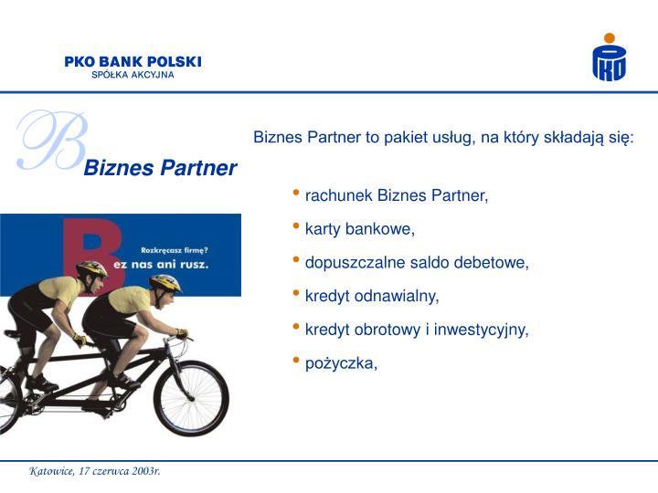 rachunek Biznes Partner,