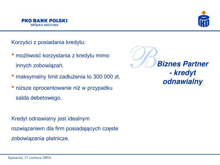 Korzyści z posiadania kredytu: