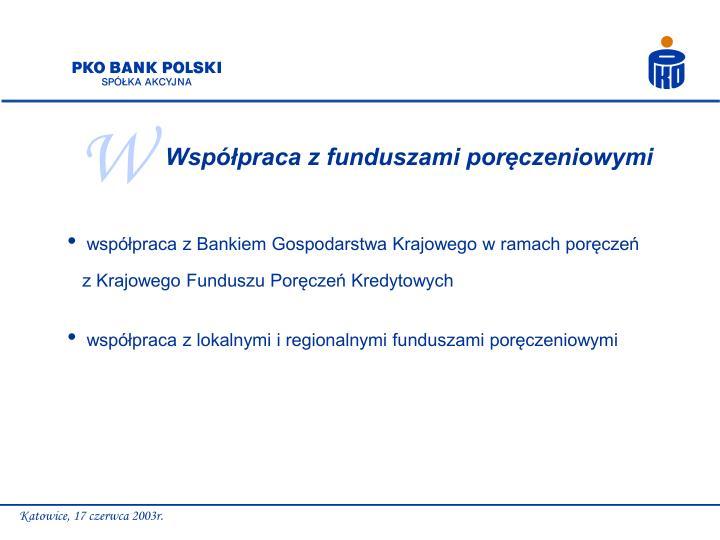 Współpraca z funduszami poręczeniowymi
