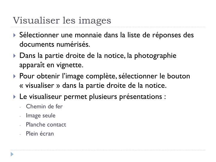 Visualiser les images