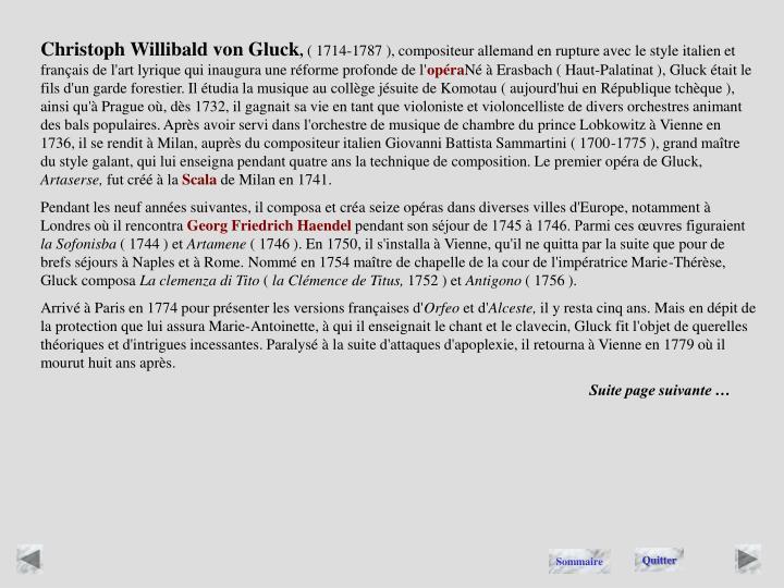 Christoph Willibald von