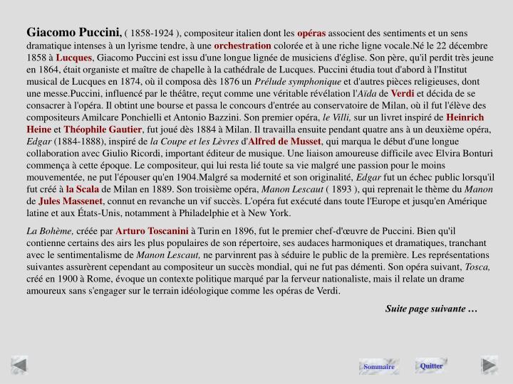 Giacomo Puccini