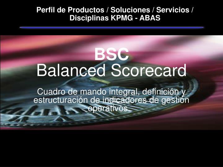 Perfil de Productos / Soluciones / Servicios / Disciplinas KPMG - ABAS