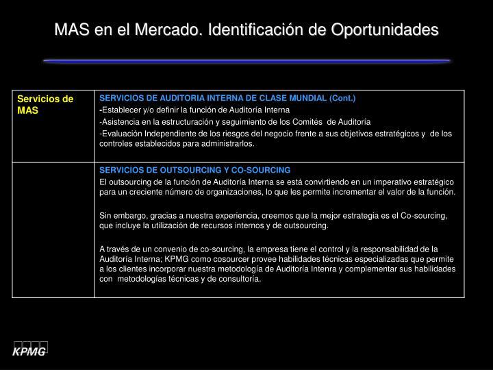 MAS en el Mercado. Identificación de Oportunidades