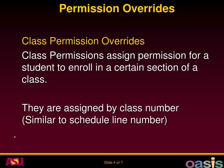 Permission Overrides