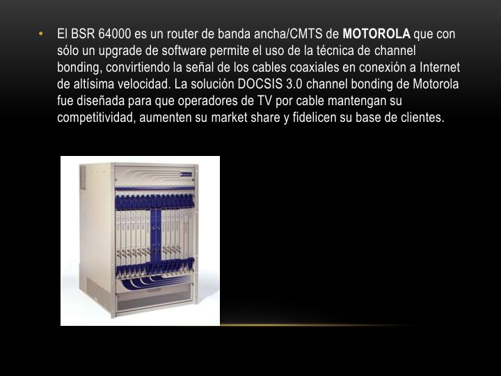 El BSR 64000 es un
