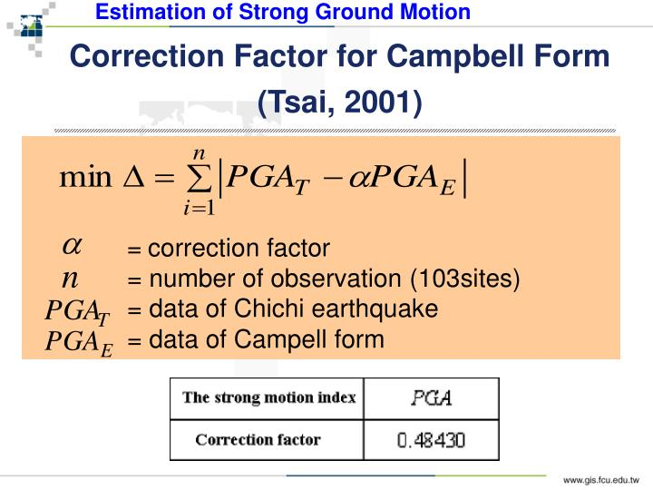 Estimation of Strong Ground Motion