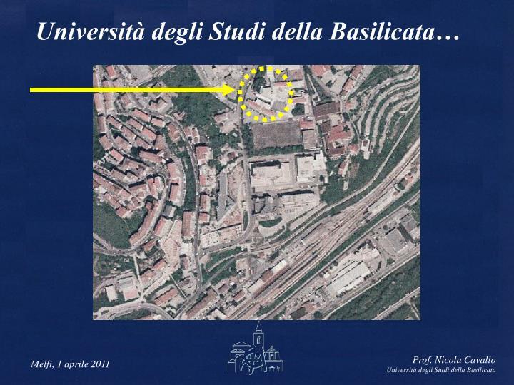 Università degli Studi della Basilicata…