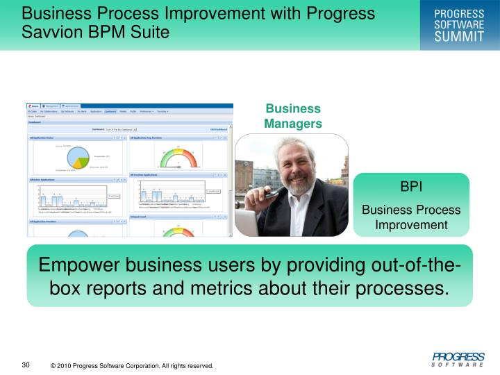 Business Process Improvement with Progress Savvion BPM Suite
