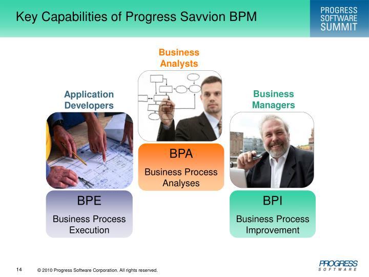 Key Capabilities of Progress Savvion BPM