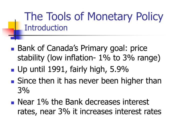 The tools of monetary policy introduction1