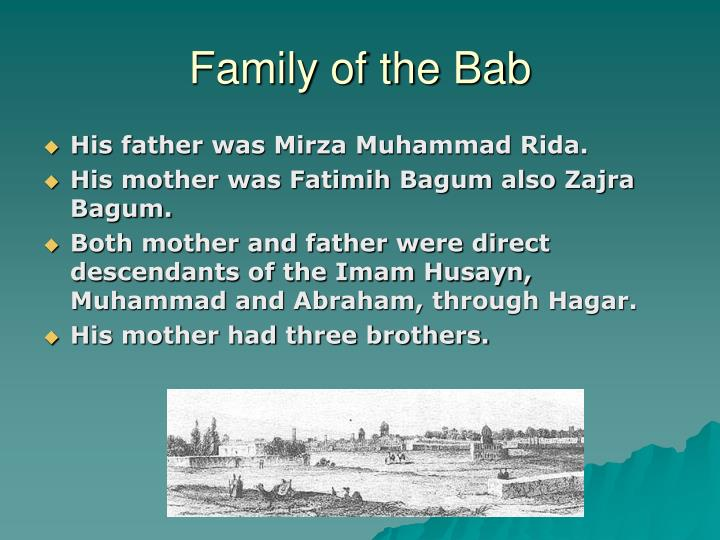 Family of the Bab