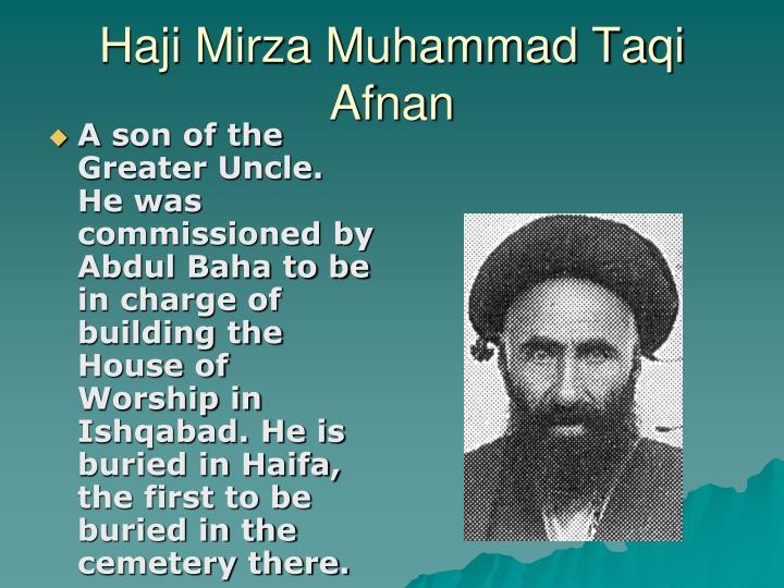 Haji Mirza Muhammad Taqi Afnan