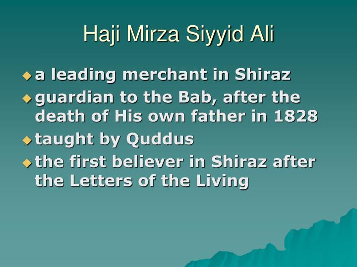 Haji Mirza Siyyid Ali