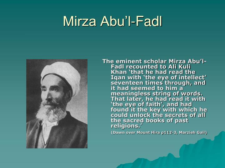 Mirza Abu'l-Fadl