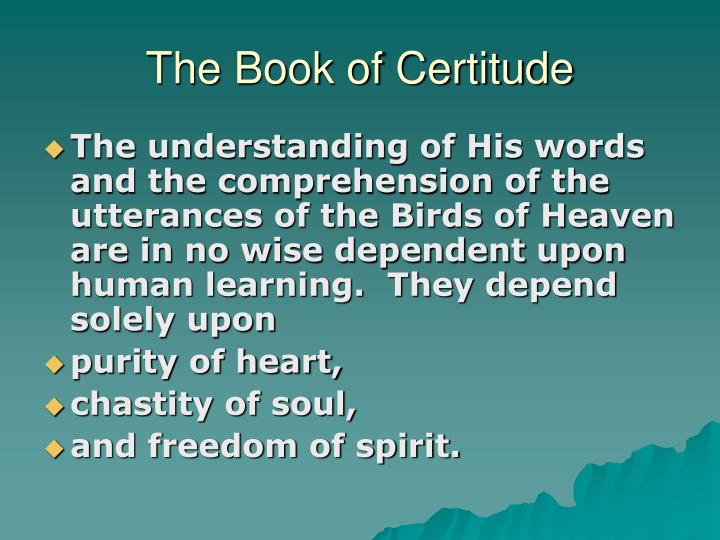 The book of certitude