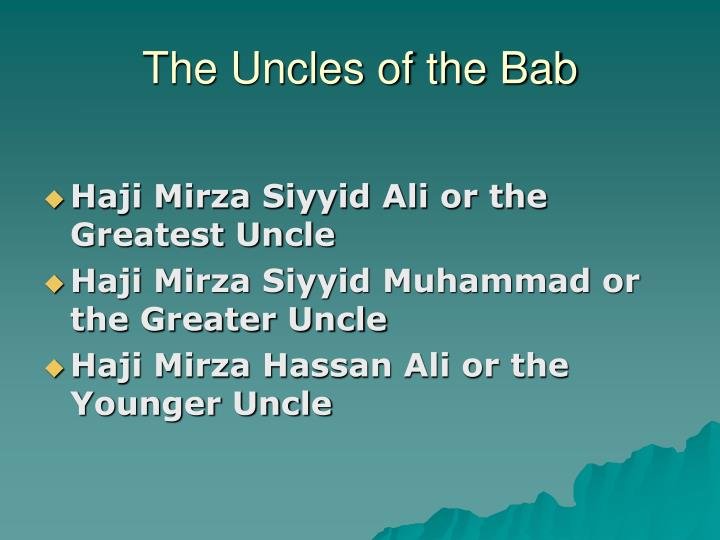 The Uncles of the Bab