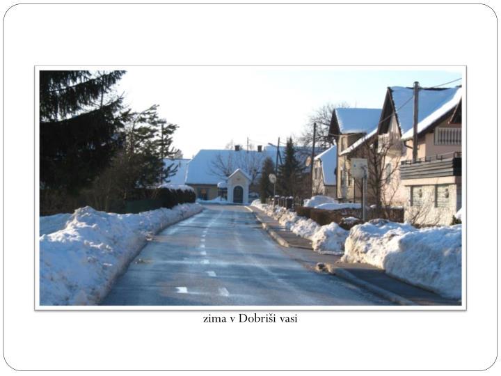 zima v Dobriši vasi
