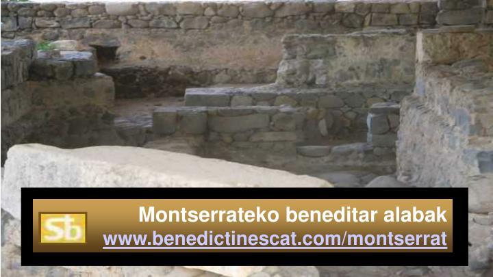 Montserrateko beneditar alabak
