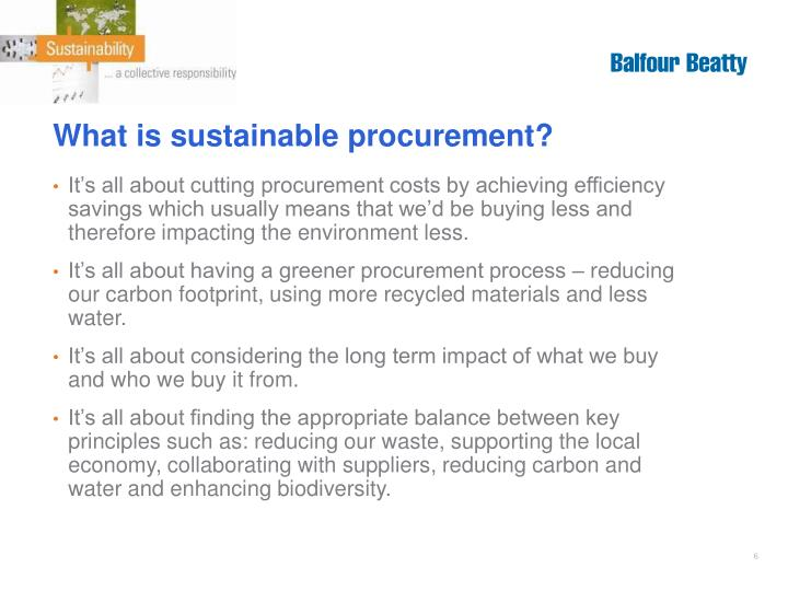 What is sustainable procurement?