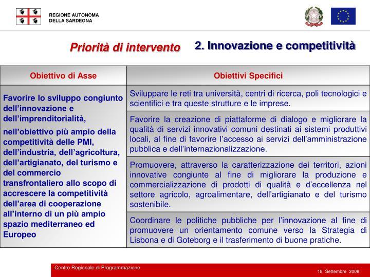 2. Innovazione e competitività