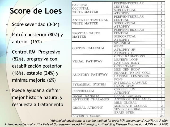 Score de Loes
