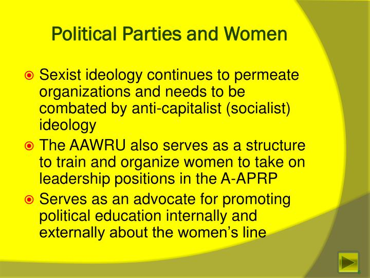 Political Parties and Women