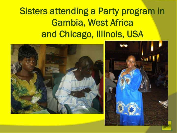 Sisters attending a Party program in Gambia, West Africa