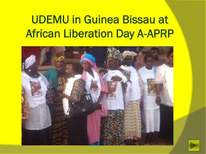 UDEMU in Guinea Bissau at African Liberation Day