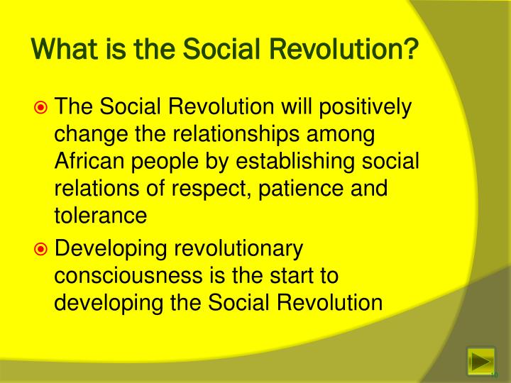 What is the Social Revolution?