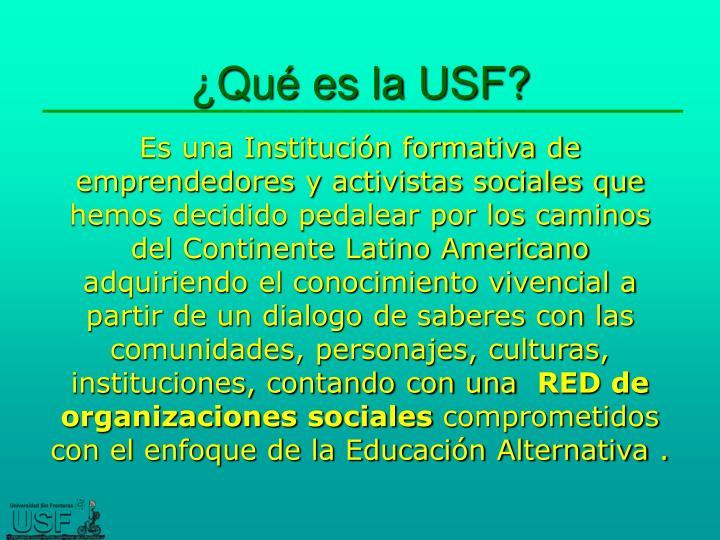 ¿Qué es la USF?